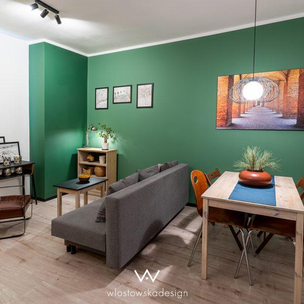Mieszkanie z zieloną ścianą II, Wrocław