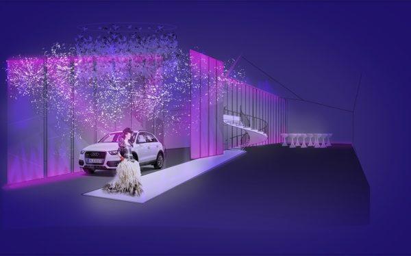 Scenografia dla pokazu  – nowe samochody