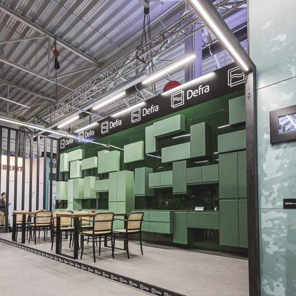 Stoisko wystawowe Deftrans, targi Warsaw Home 2019, Warszawa